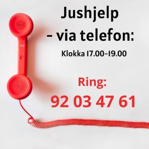 Jushjelp - via telefon