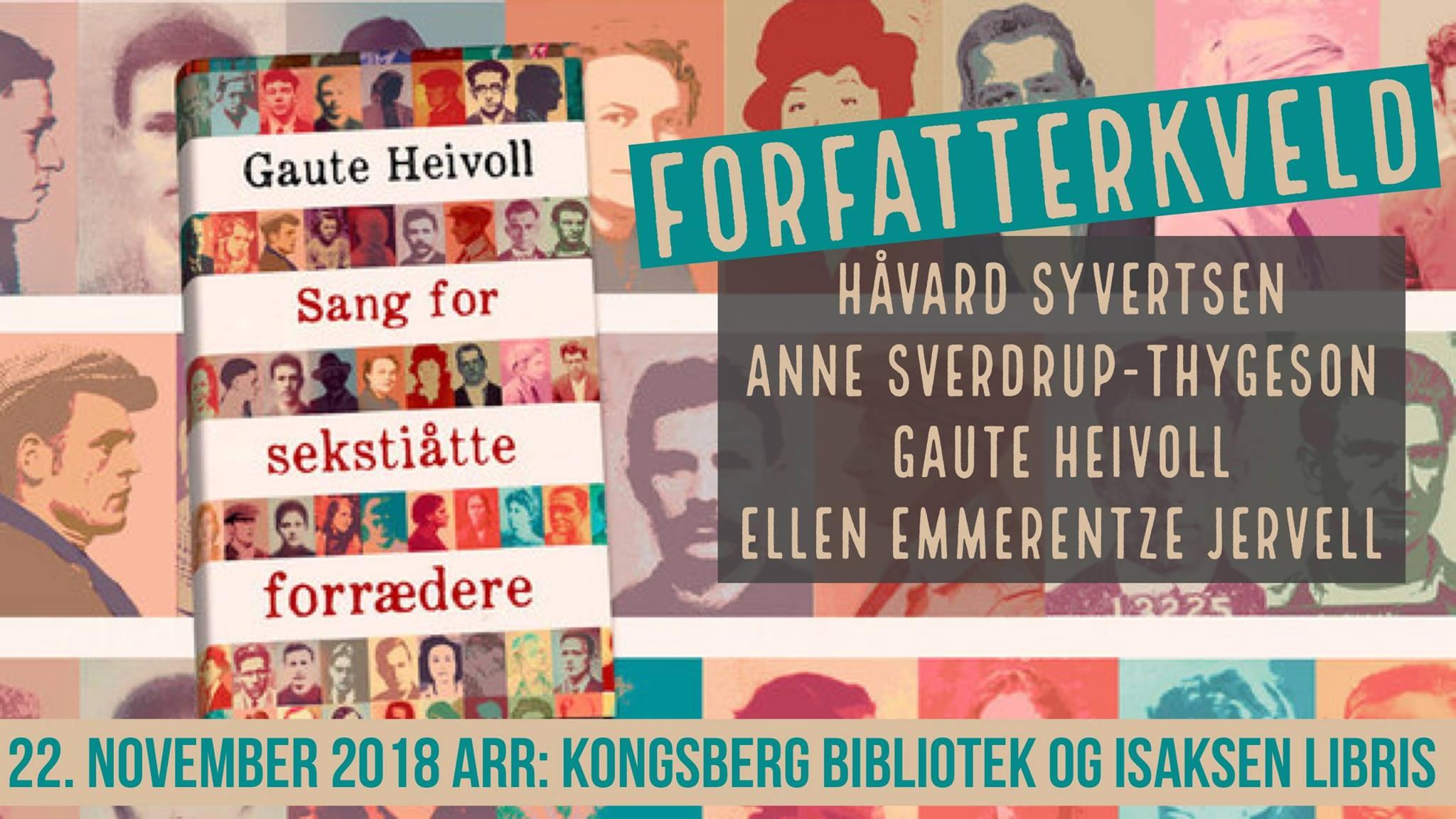 Forfatterkveld @ Sølvsalen, Kongsberg musikkteater