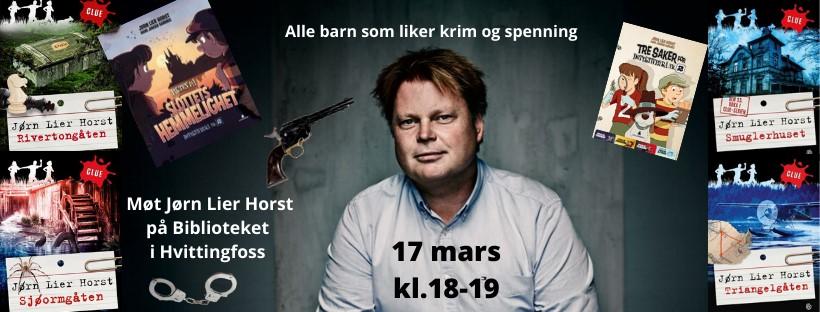 Arrangementer med Jørn Lier Horst er avlyst