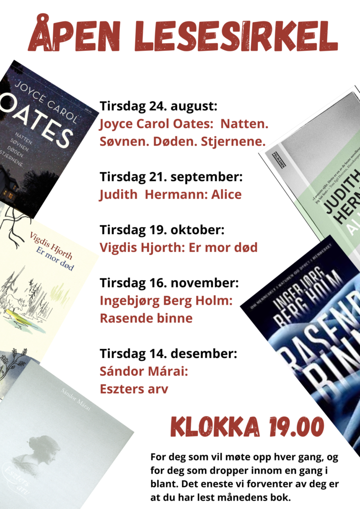 Åpen lesesirkel @ Kongsberg bibliotek